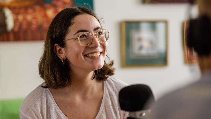 FrauenFunk S.2, Episode #14: Brigitte Handlos im Gespräch mit Sara Velić, Vorsitzende der Österreichischen Hochschülerschaft / F: Helmut Spudich